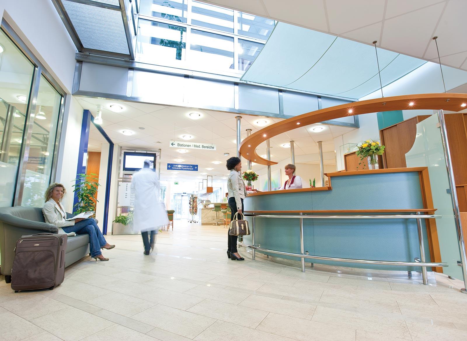 Дружественная атмосфера клиники «Ragnitz Emfang» сама по себе способствует выздоровлению