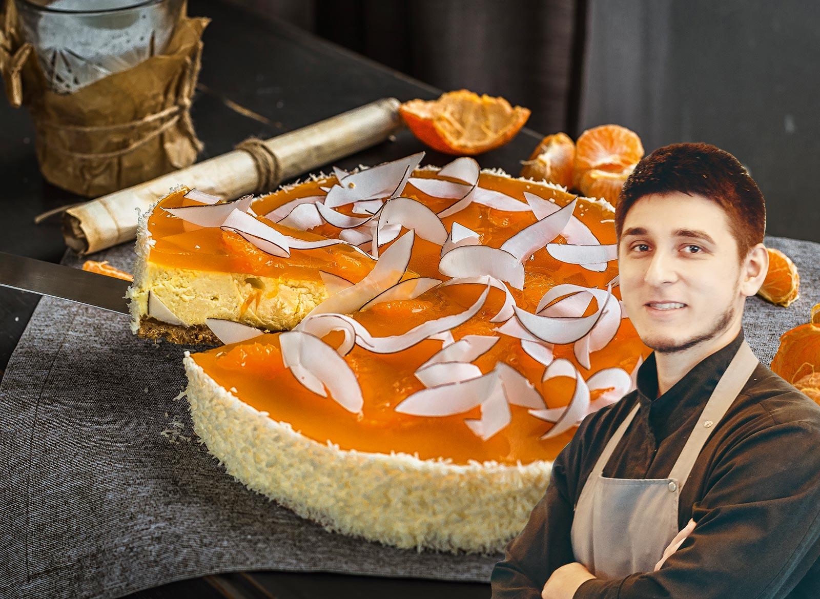 Творожный чизкейк сабхазским мандарином