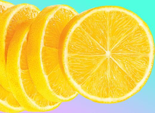 Лимонный маникюр